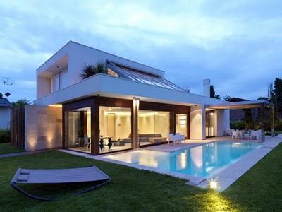 greyhome modernluxuryhomesdesignoutdoorswimmingpool - Luxury Homes Designs